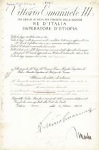 Benito Mussolini Autograph Signed Document